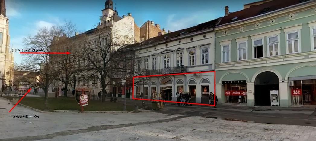 EKSKLUZIVNO – Pešačka zona Novi Sad – 254m2 / Front 18m